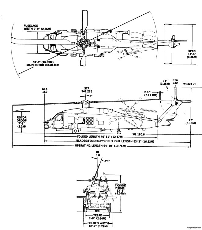 sh 60b model airplane plan