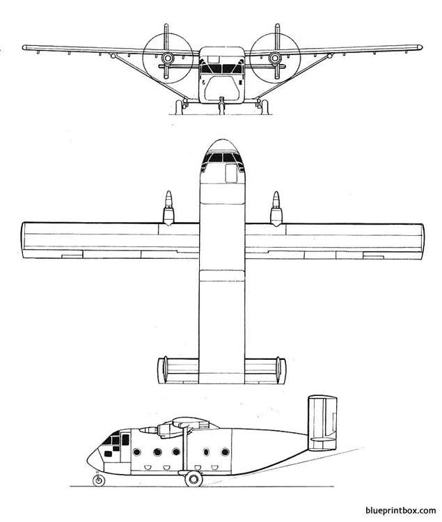 short sc 7 skyvan model airplane plan
