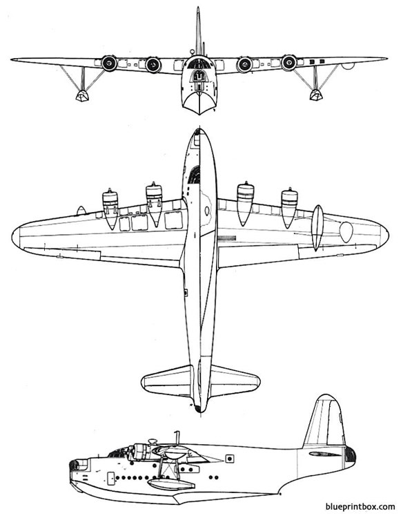 short sunderland model airplane plan