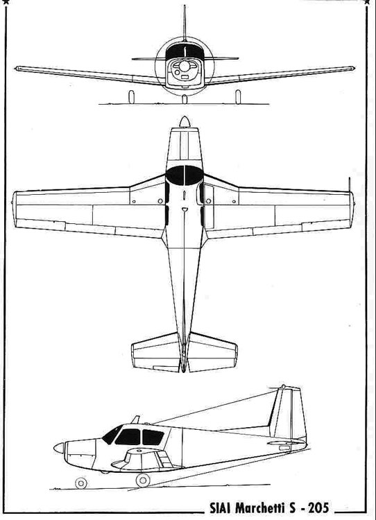 siai205 3v model airplane plan