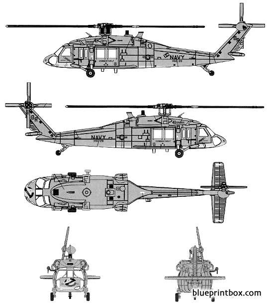 sikorski mh 60s knighthawk model airplane plan