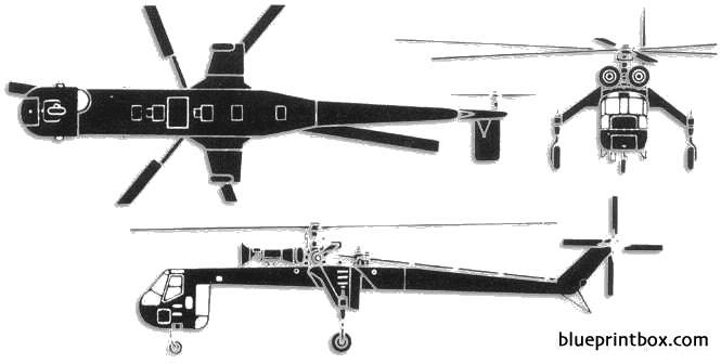 sikorsky ch 54 skycrane model airplane plan