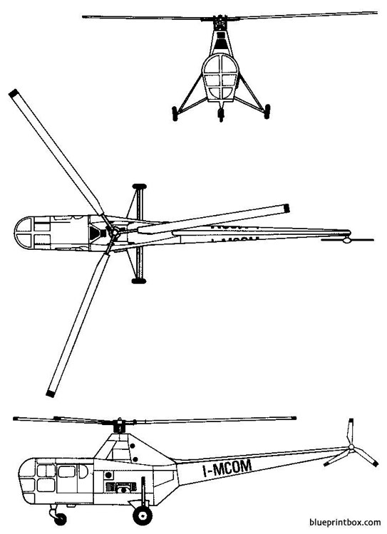 sikorsky s 51 h 5 model airplane plan