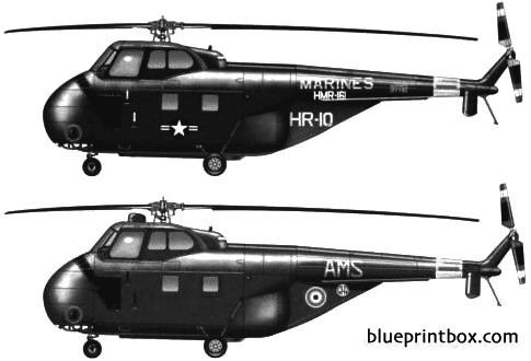sikorsky s 55 h 19  ho4s 3 model airplane plan