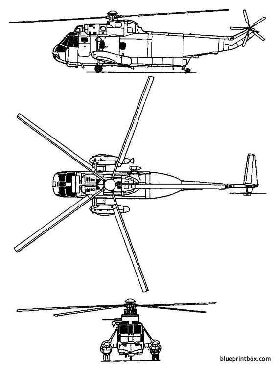 sikorsky s 61 sh 3 sea king model airplane plan