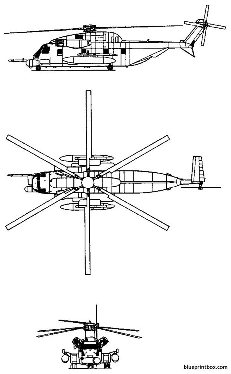 sikorsky s 65 ch 53 sea stallion model airplane plan