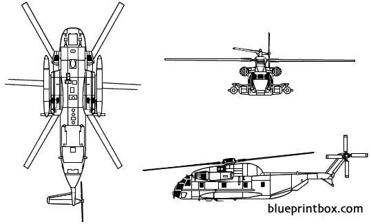 sikorsky s 65 ch 53 sea stallion 2 model airplane plan