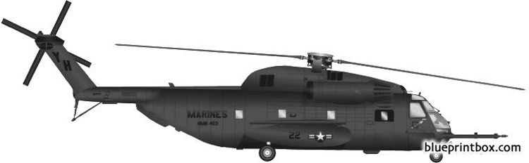 sikorsky s 65 ch 53d sea stallion model airplane plan