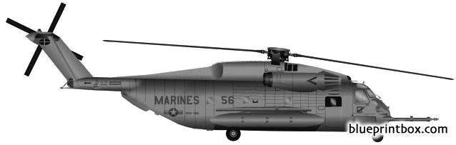 sikorsky s 65 ch 53e sea stallion model airplane plan