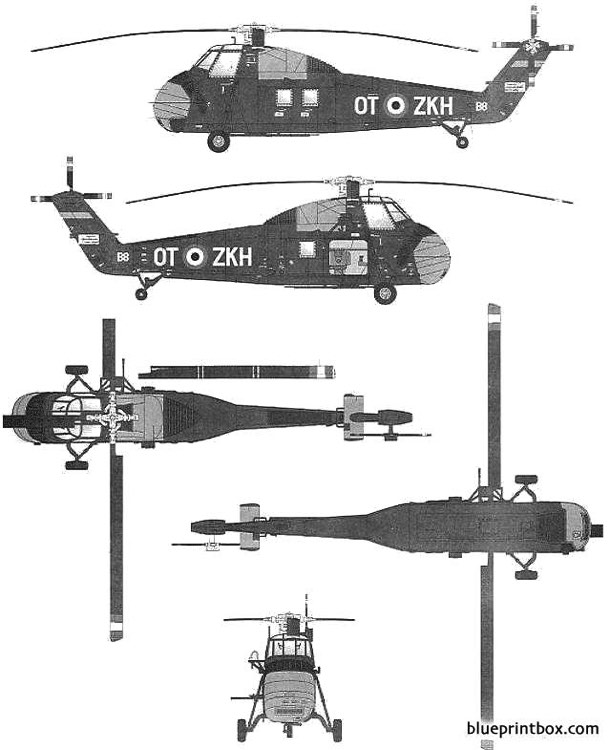 sikorsky uh 34a choctaw model airplane plan