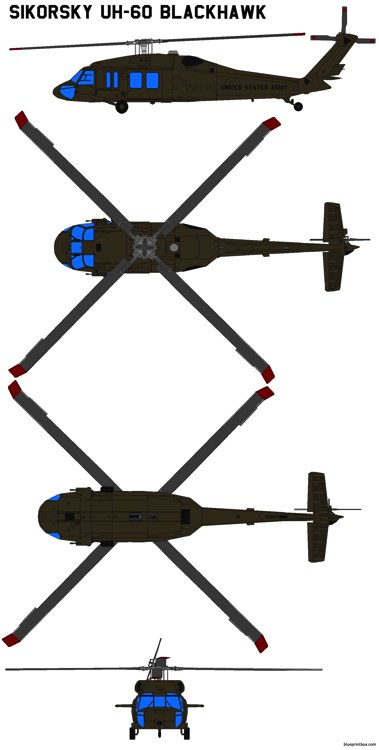 sikorsky uh 60 black hawk model airplane plan