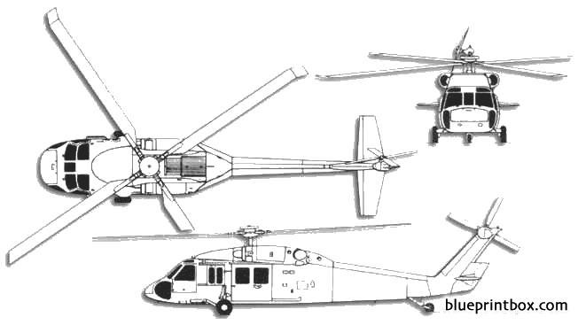 sikorsky uh 60 blackhawk 2 model airplane plan