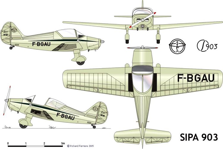sipa903 3v model airplane plan