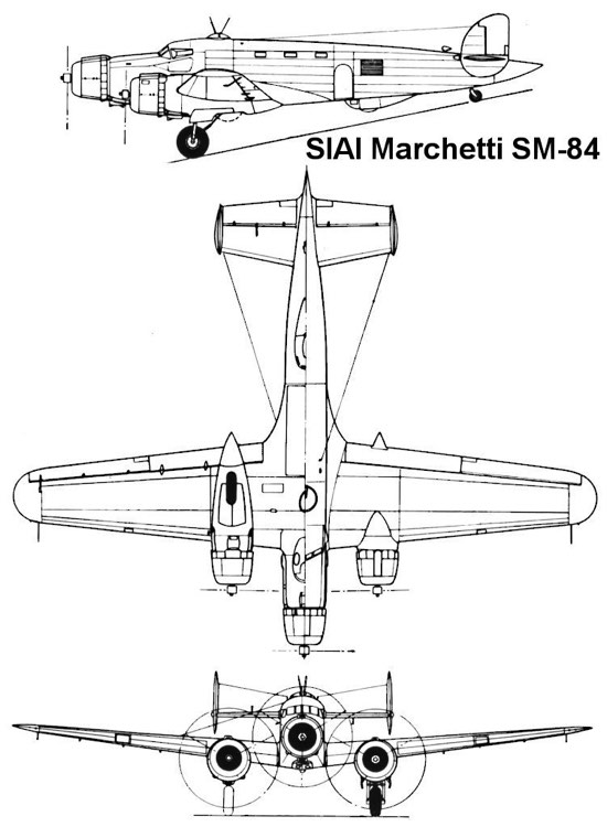 sm84 3v model airplane plan