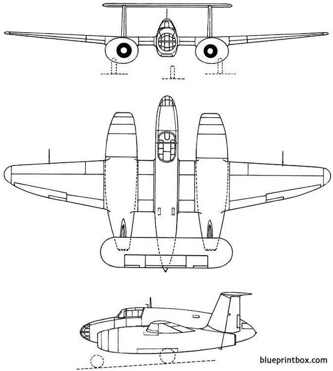 sncac nc1071 1948 france model airplane plan
