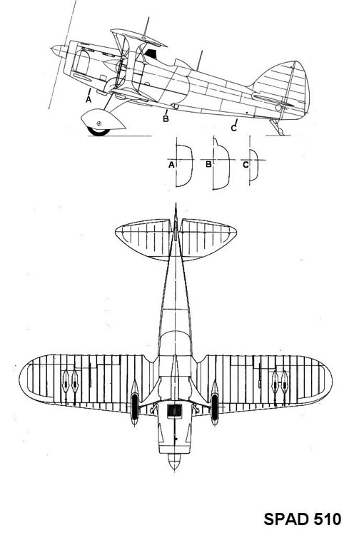 spad510 2 3v model airplane plan