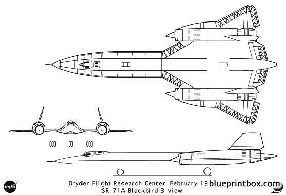 sr 71a model airplane plan