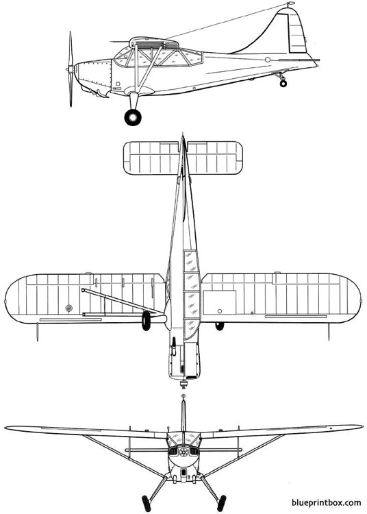 stinson l 5 sentinel model airplane plan