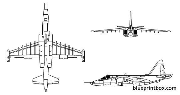 su 25 frogfoot model airplane plan