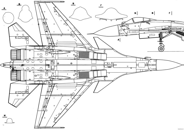 su 33 4 model airplane plan