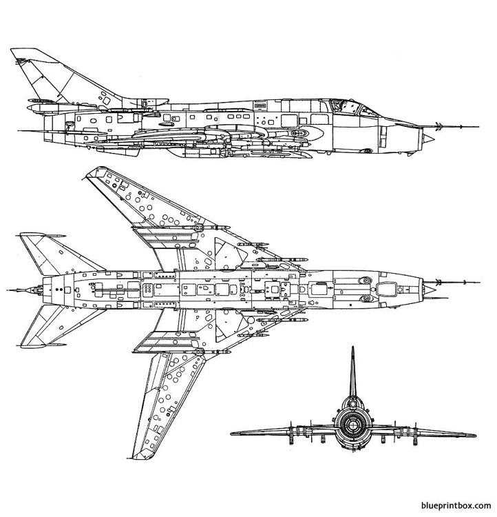 sukhoi su 17 fitter 2 model airplane plan
