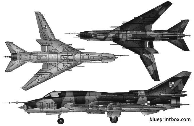 sukhoi su 22 fitter f model airplane plan