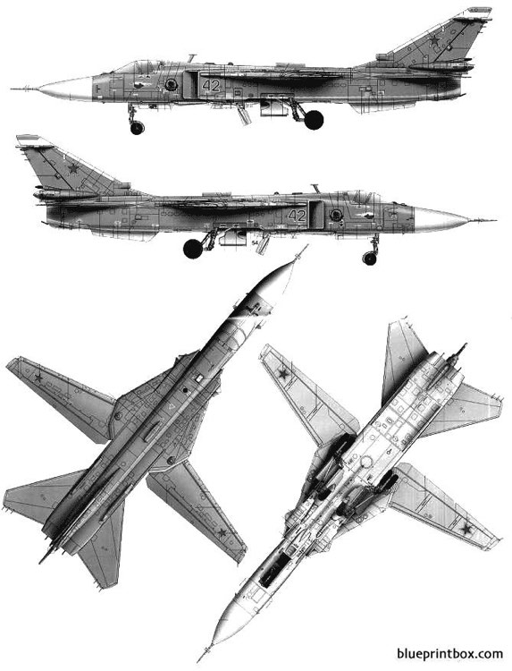 sukhoi su 24m fencer d model airplane plan
