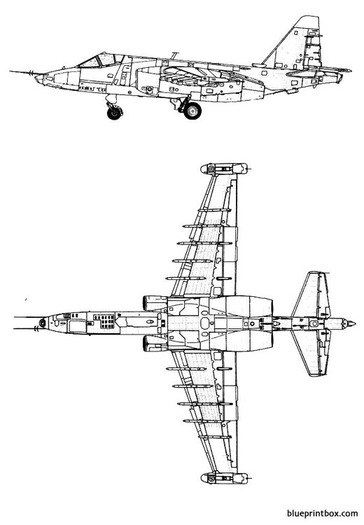 sukhoi su 25 frogfoot 2 model airplane plan