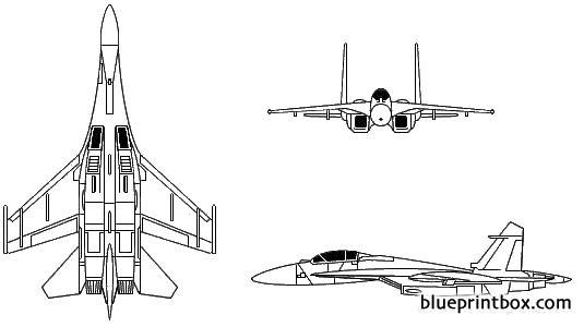 sukhoi su 27 flanker model airplane plan