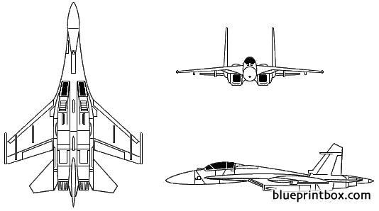 sukhoi su 27 flanker 2 model airplane plan