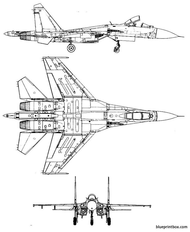 sukhoi su 27 flanker 3 model airplane plan