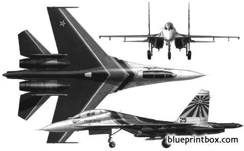 sukhoi su 27ub 02 model airplane plan