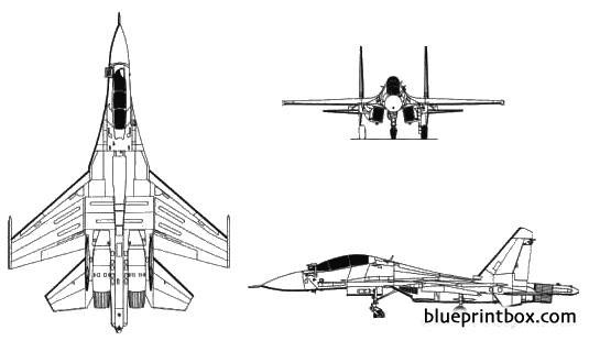 sukhoi su 30 flanker model airplane plan