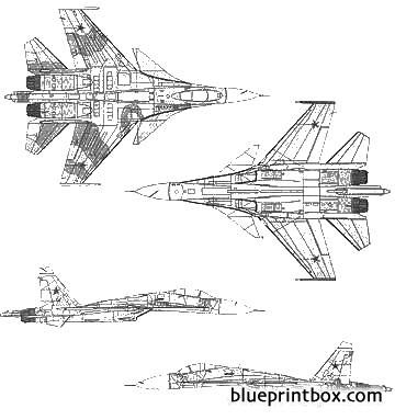 sukhoi su 33 model airplane plan