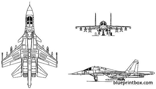sukhoi su 34 flanker model airplane plan