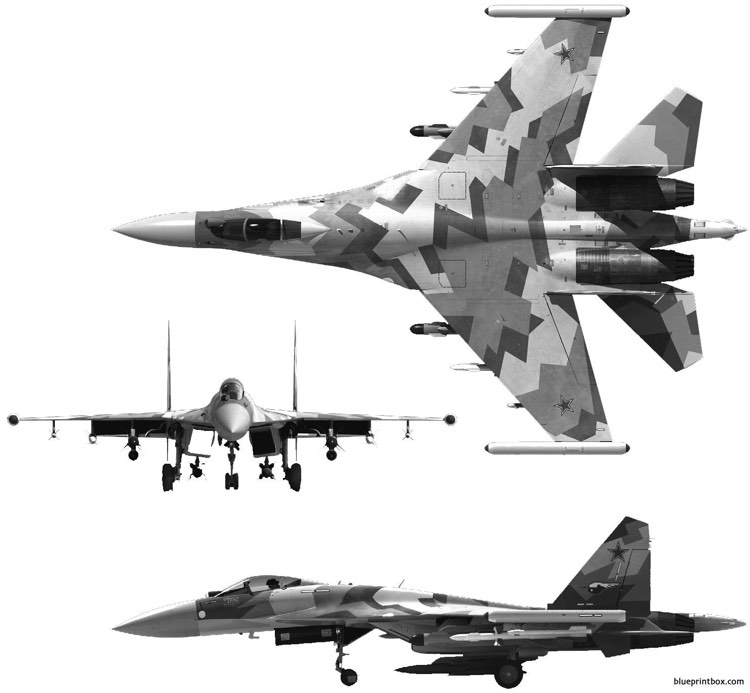 sukhoi su 35bm model airplane plan