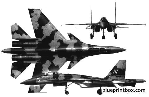 sukhoi su 37 model airplane plan