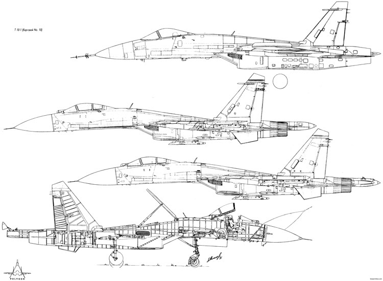 sukhojj su 27 model airplane plan