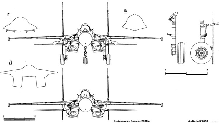 sukhojj su 27 14 model airplane plan