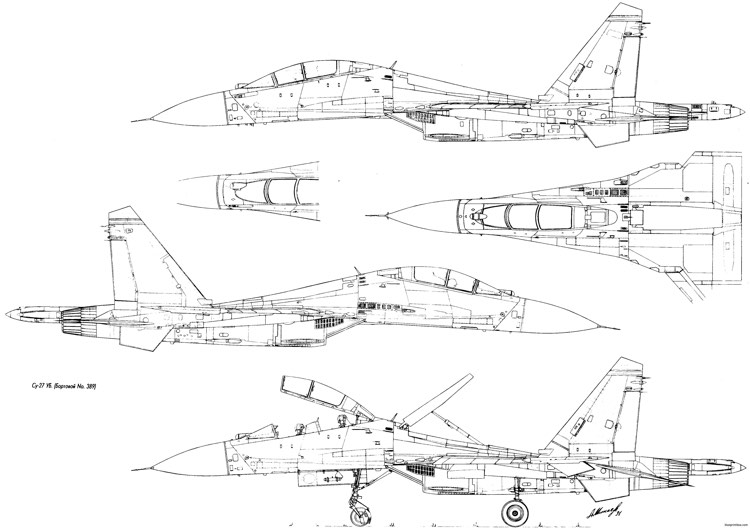 sukhojj su 27 4 model airplane plan