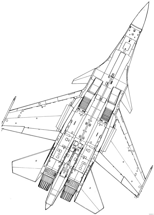 sukhojj su 37 4 model airplane plan