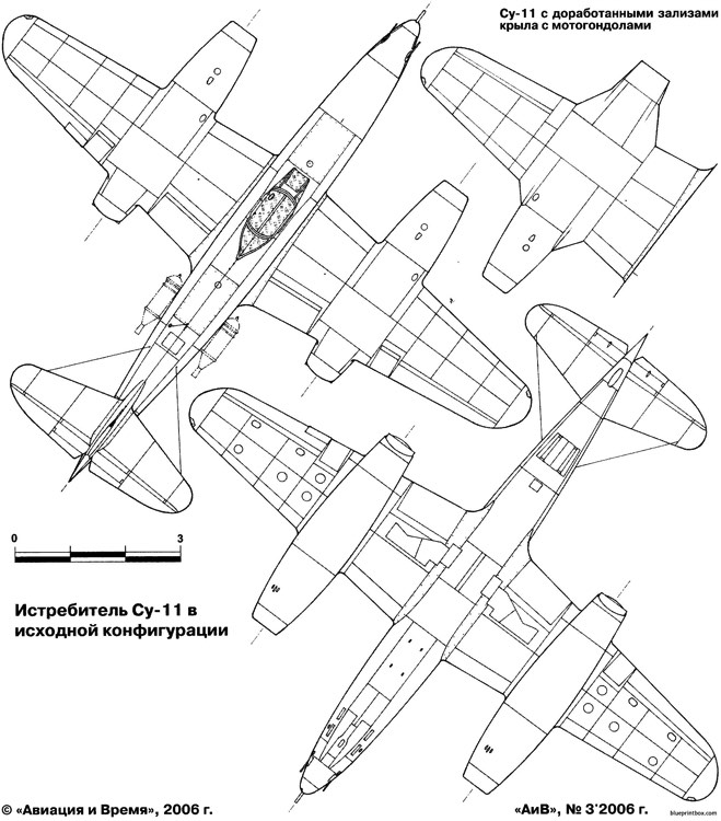 sukhojj su 9 11 pervejj 2 model airplane plan