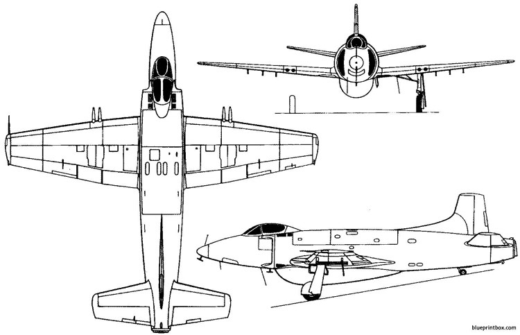 supermarine attacker 1946 england model airplane plan