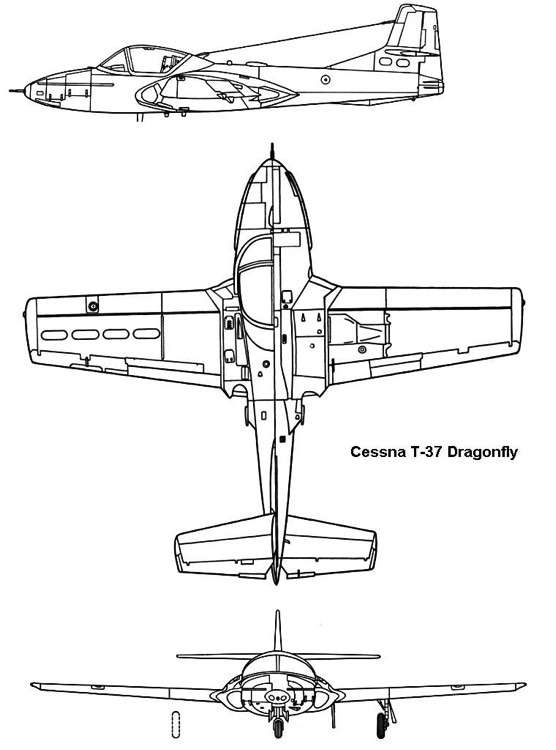 t37 3v model airplane plan