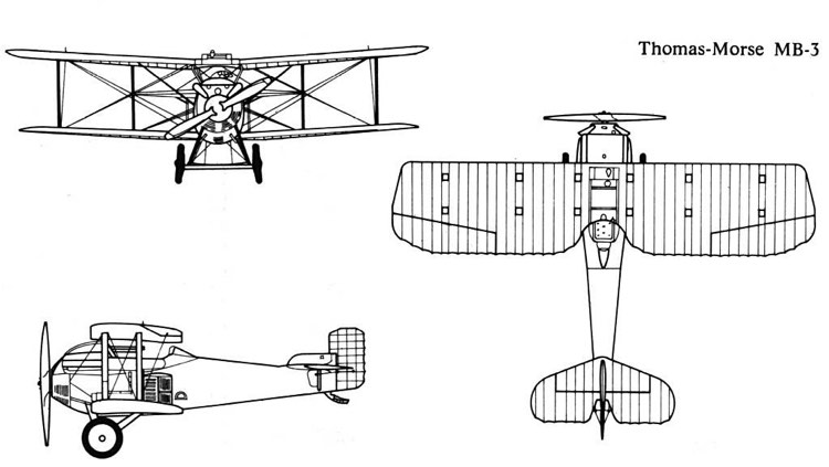 thomas morse mb3 3v model airplane plan
