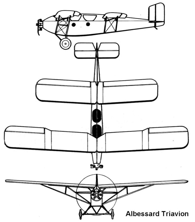 triavion 3v model airplane plan