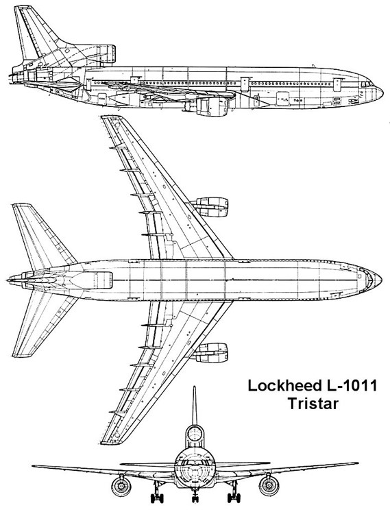 tristar 1 3v model airplane plan