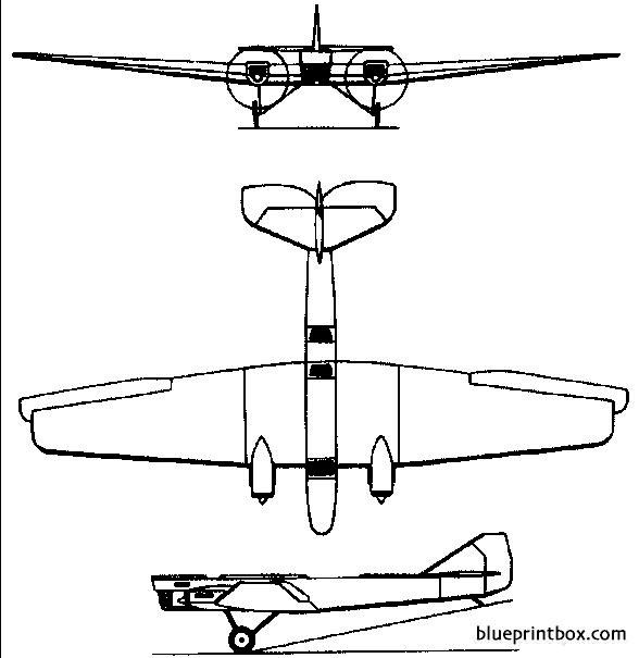 tupolev ant 4  tb 1 1925 russia model airplane plan