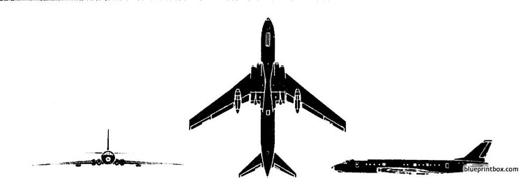 tupolev tu 110 cooker model airplane plan