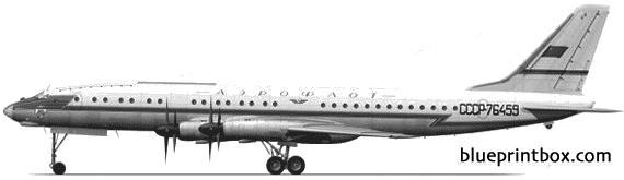 tupolev tu 114 model airplane plan